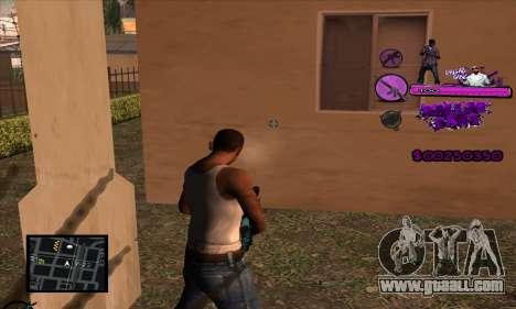C-HUD Ballas Gang for GTA San Andreas forth screenshot