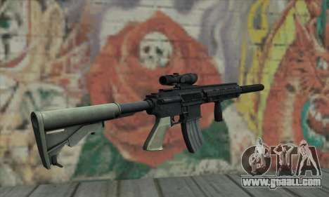 M416 with ACOG sight and silenced for GTA San Andreas second screenshot