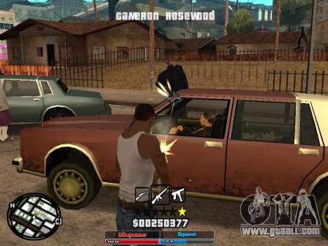 Cleo Hud Cameron Rosewood for GTA San Andreas second screenshot