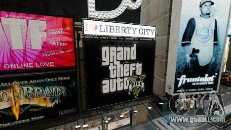 Billboards of GTA 5 for GTA 4 forth screenshot