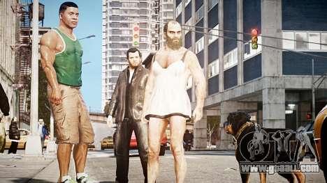 GTA V Franklin Clinton for GTA 4 third screenshot
