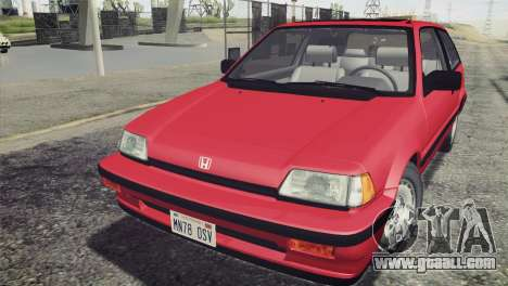 Honda Civic Si 1986 HQLM for GTA San Andreas right view