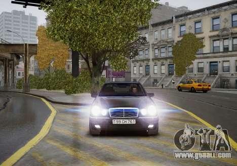 Mercedes-Benz E280 Beta for GTA 4 inner view