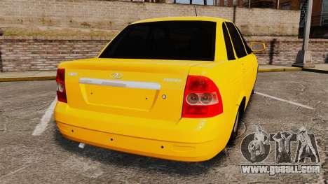 VAZ-Lada 2170 Priora for GTA 4 back left view