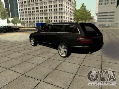 Mercedes-Benz w212 E-class Estate for GTA San Andreas back view
