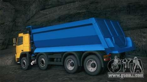 Volvo FM12 8X4 Dumper for GTA San Andreas back view
