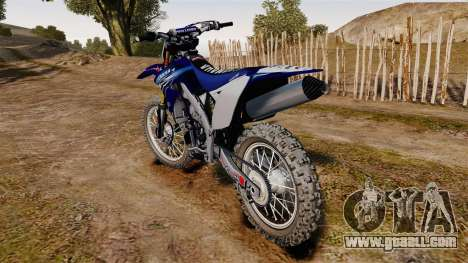 Kawasaki KX250F (Yamaha) for GTA 4 back left view