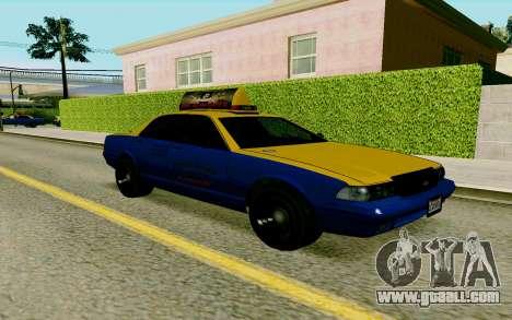 GTA V Taxi for GTA San Andreas