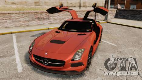 Mercedes-Benz SLS 2014 AMG Black Series for GTA 4 bottom view