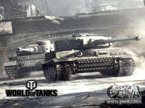Boot screen World of Tanks for GTA San Andreas