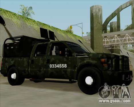 Ford F350 for GTA San Andreas left view