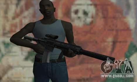 M416 with ACOG sight and silenced for GTA San Andreas third screenshot