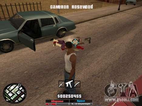 Cleo Hud Cameron Rosewood for GTA San Andreas forth screenshot