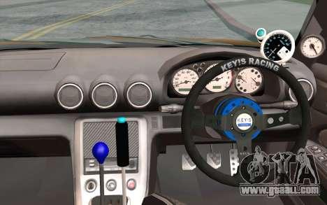 Nissan Silvia S15 GT Uras for GTA San Andreas back view