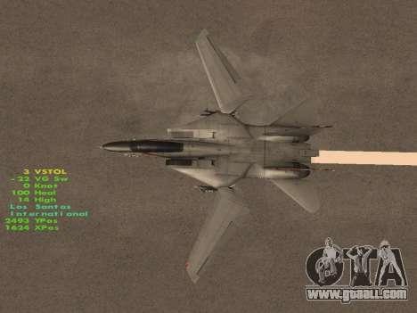 F-14 LQ for GTA San Andreas bottom view