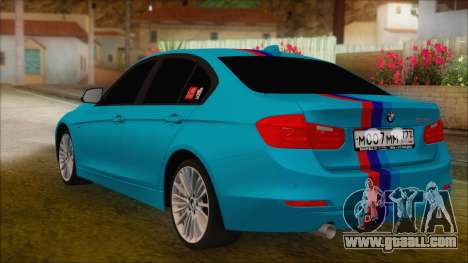 BMW 328d 2014 for GTA San Andreas left view
