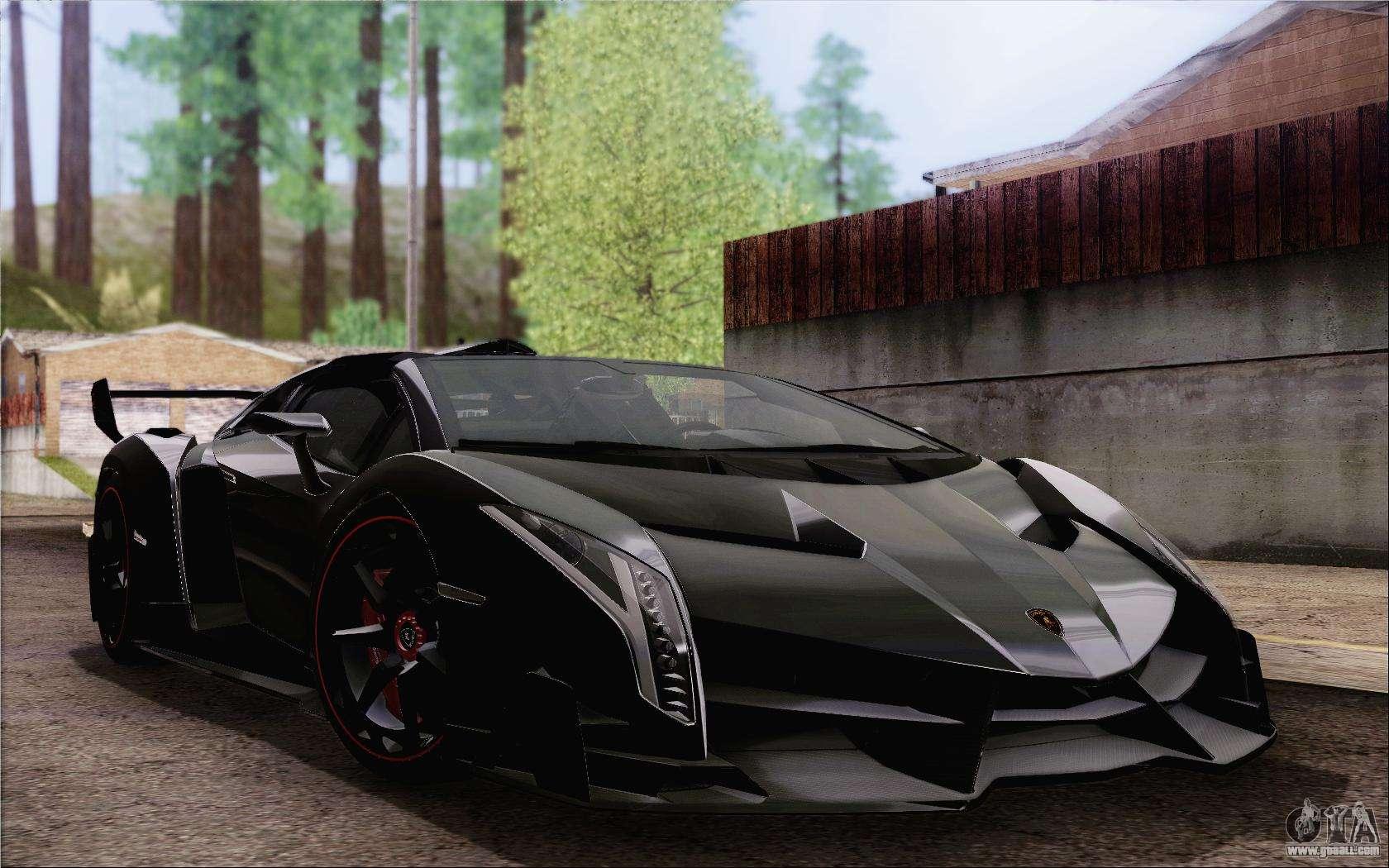 Lamborghini Veneno Roadster Lp750 4 2014 For Gta San Andreas