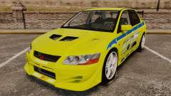 Mitsubishi Lancer Evolution VII 2002 for GTA 4