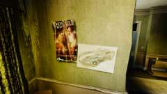 New posters in the apartment of the Novel