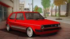 Volkswagen Golf MK1 Red Vintage for GTA San Andreas