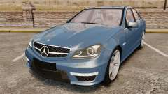 Mercedes-Benz C63 AMG 2013 for GTA 4