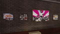 New posters in the apartment Playboy for GTA 4