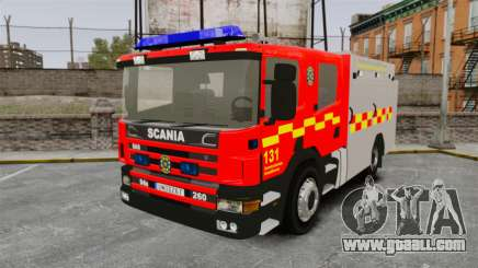 Scania 94D 260 BAS1 Stockholm Fire Brigade [ELS] for GTA 4