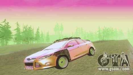 Ford Focus Sedan Hellaflush for GTA San Andreas side view