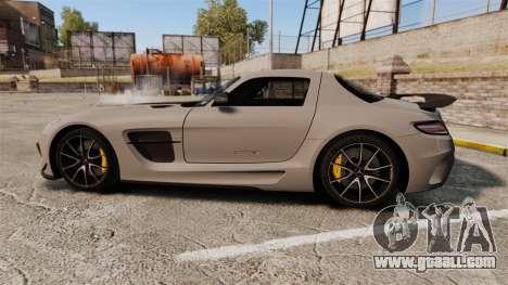 Mercedes-Benz SLS 2014 AMG NFS Stripes for GTA 4 left view