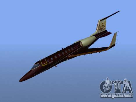 Bombardier Learjet 45 for GTA San Andreas back view