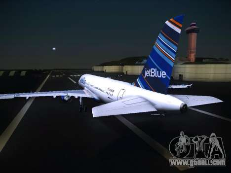 Airbus A320 JetBlue for GTA San Andreas back view