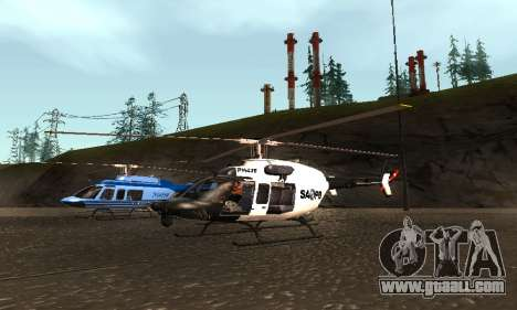 Bell 407 SAPD for GTA San Andreas right view