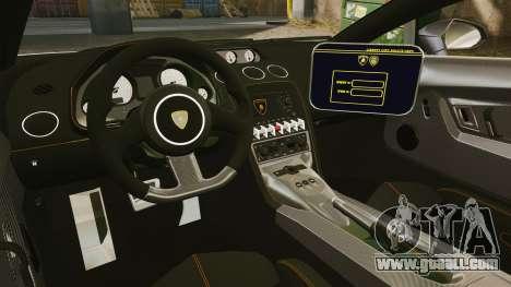 Lamborghini Gallardo Hungarian Police [ELS] for GTA 4 side view