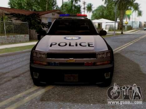 Chevrolet TrailBlazer Police for GTA San Andreas right view