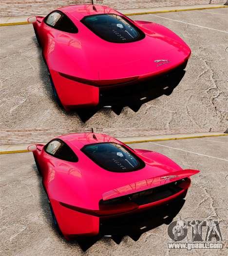 Jaguar C-X75 [EPM] for GTA 4 upper view