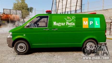 Volkswagen Transporter T5 Hungarian Post [ELS] for GTA 4 left view