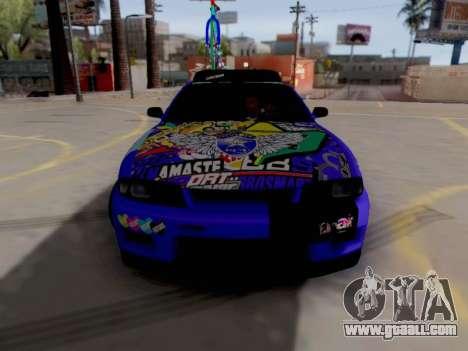 Nissan GT-R R33 HellaFlush V2 for GTA San Andreas left view