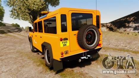 Land Rover Defender tecnovia [ELS] for GTA 4 back left view