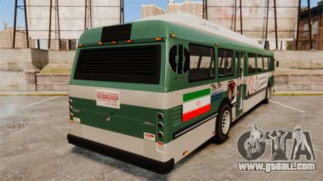 Iranian paint bus for GTA 4 back left view