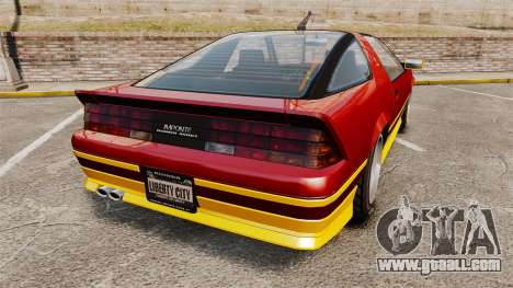 Imponte Ruiner new wheels for GTA 4 back left view
