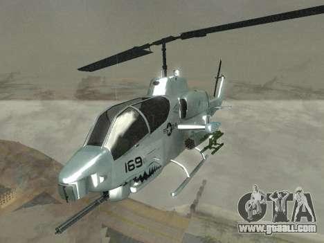 AH-1W Super Cobra for GTA San Andreas inner view