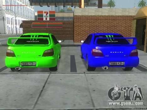 Subaru Impreza WRX STi for GTA San Andreas back left view