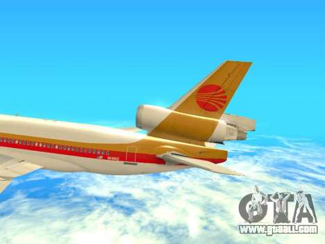 McDonnell Douglas MD-11 Continental Airlines for GTA San Andreas side view