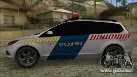 Ford Focus 2008 Station Wagon Hungary Police for GTA San Andreas left view