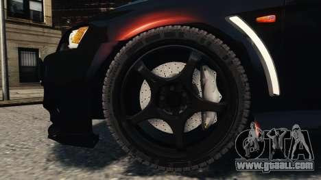 Mitsubishi Lancer Evolution X 2008 Black Edition for GTA 4 side view