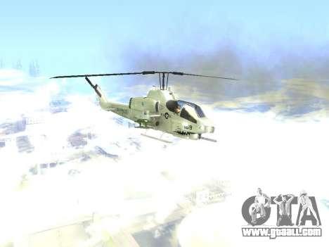 AH-1W Super Cobra for GTA San Andreas back view