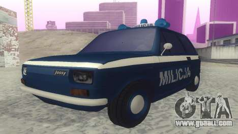 Fiat 126p milicja for GTA San Andreas