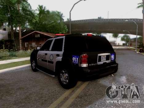 Chevrolet TrailBlazer Police for GTA San Andreas inner view