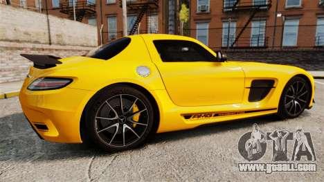 Mercedes-Benz SLS 2014 AMG Performance Studio for GTA 4 left view