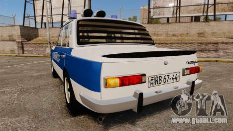 Wartburg 353w Deluxe Hungarian Police for GTA 4 back left view